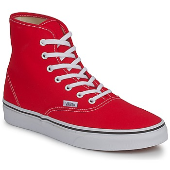 Topánky Ženy Členkové tenisky Vans AUTHENTIC HI červená