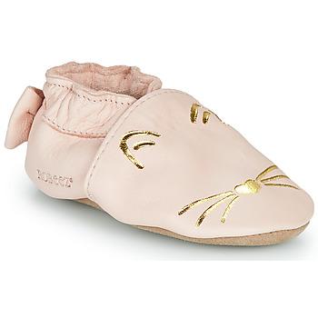 Topánky Dievčatá Papuče Robeez GOLDY CAT Ružová / Zlatá