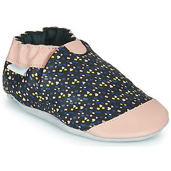 Topánky Dievčatá Papuče Robeez RAINY LOVE Čierna / Ružová