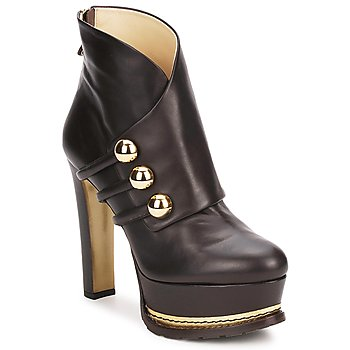 Topánky Ženy Čižmičky Moschino MA2104 Hnedá