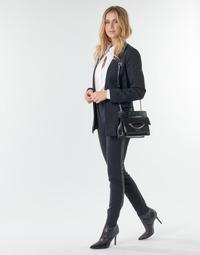 Oblečenie Ženy Nohavice päťvreckové Karl Lagerfeld PUNTO PANTS W/ LOGO TAPE Námornícka modrá / Čierna