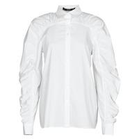 Oblečenie Ženy Košele a blúzky Karl Lagerfeld POPLIN BLOUSE W/ GATHERING Biela