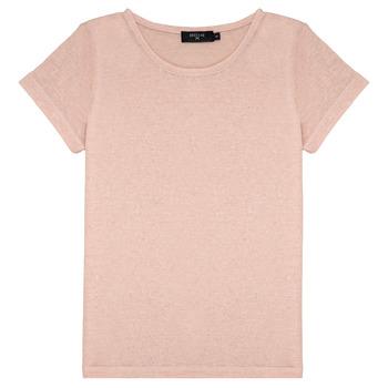 Oblečenie Dievčatá Tričká s krátkym rukávom Deeluxe GLITTER Ružová