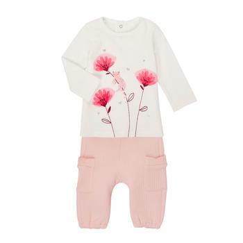 Oblečenie Dievčatá Komplety a súpravy Catimini CR36001-11 Biela / Ružová