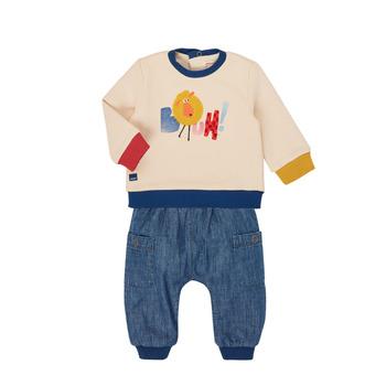 Oblečenie Chlapci Komplety a súpravy Catimini CR36050-46 Viacfarebná