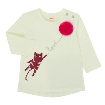 Oblečenie Dievčatá Tričká s dlhým rukávom Catimini CR10063-11 Ružová