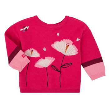 Oblečenie Dievčatá Cardigany Catimini CR18033-35 Ružová