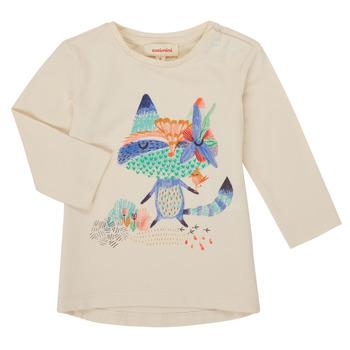Oblečenie Dievčatá Tričká s dlhým rukávom Catimini CR10053-12 Biela