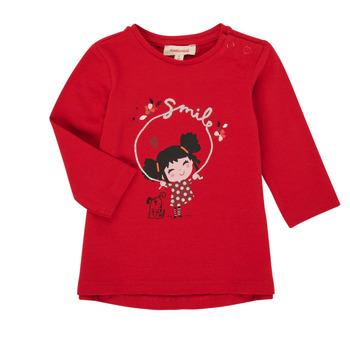 Oblečenie Dievčatá Tričká s dlhým rukávom Catimini CR10043-38 Červená