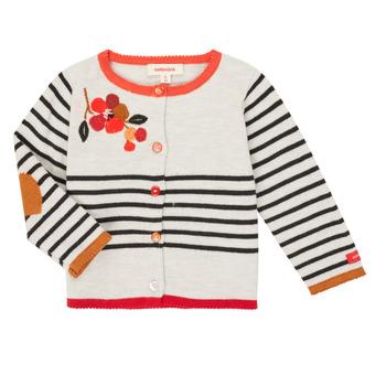 Oblečenie Dievčatá Cardigany Catimini CR18003-19 Viacfarebná