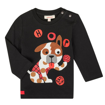 Oblečenie Chlapci Tričká s dlhým rukávom Catimini CR10022-02 Čierna