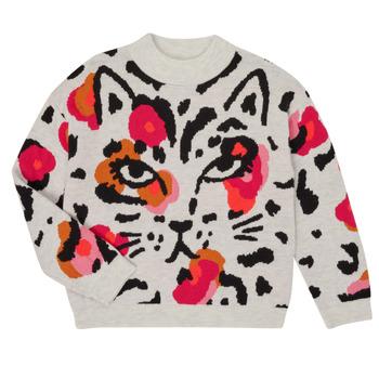 Oblečenie Dievčatá Svetre Catimini CR18035-11-J Viacfarebná