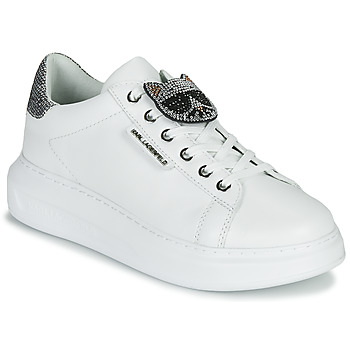 Topánky Ženy Nízke tenisky Karl Lagerfeld KAPRI IKONIC TWIN LO LACE Biela / Strieborná