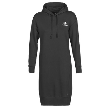 Oblečenie Ženy Krátke šaty Converse CONVERSE STAR CHEVRON EMB LONG DRESS Čierna
