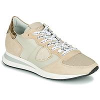 Topánky Ženy Nízke tenisky Philippe Model TROPEZ X MONDIAL CROCO Béžová