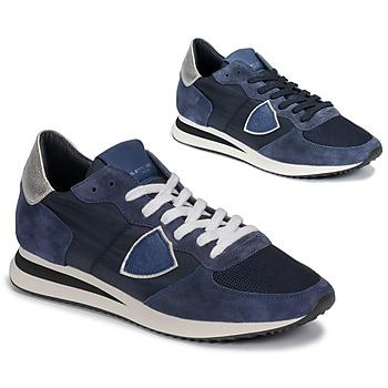 Topánky Ženy Nízke tenisky Philippe Model TROPEZ Námornícka modrá