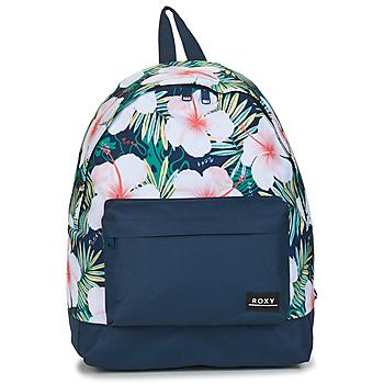 Tašky Ženy Ruksaky a batohy Roxy BEYOUNG J BKPK BSP8 Mood / Modrá indigová / Kvetovaná