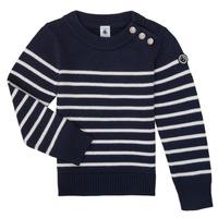 Oblečenie Deti Svetre Petit Bateau LOX Námornícka modrá / Biela