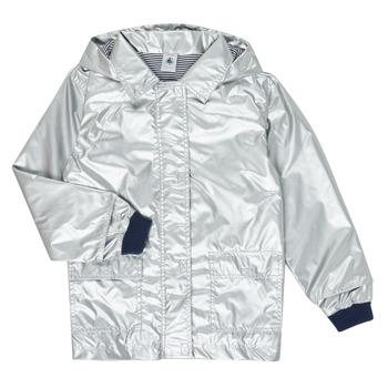 Oblečenie Dievčatá Parky Petit Bateau LAETICIA Strieborná
