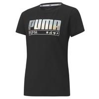 Oblečenie Dievčatá Tričká s krátkym rukávom Puma ALPHA TEE 165 Čierna