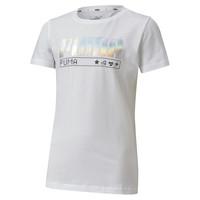 Oblečenie Dievčatá Tričká s krátkym rukávom Puma ALPHA TEE Biela