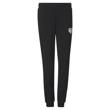 Oblečenie Dievčatá Tepláky a vrchné oblečenie Puma ALPHA SWEAT PANT Čierna