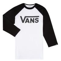 Oblečenie Chlapci Tričká s dlhým rukávom Vans VANS CLASSIC RAGLAN Čierna / Biela