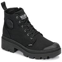 Topánky Ženy Polokozačky Palladium PALLABASE TWILL Čierna