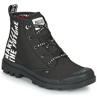 Topánky Polokozačky Palladium PAMPA HI FUTURE Čierna