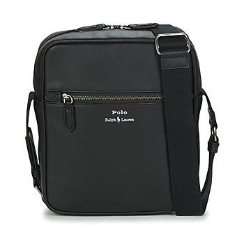 Tašky Muži Vrecúška a malé kabelky Polo Ralph Lauren CROSSBODY-CROSSBODY-SMOOTH LEATHER Čierna