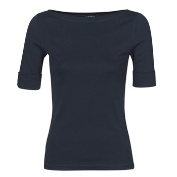 Oblečenie Ženy Tričká s dlhým rukávom Lauren Ralph Lauren JUDY Námornícka modrá
