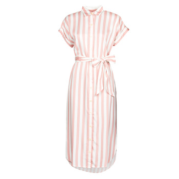 Oblečenie Ženy Dlhé šaty Lauren Ralph Lauren CICERO Biela / Ružová