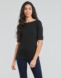 Oblečenie Ženy Tričká s dlhým rukávom Lauren Ralph Lauren JUDY Čierna