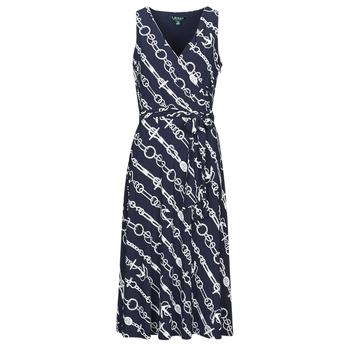 Oblečenie Ženy Dlhé šaty Lauren Ralph Lauren CARANA Námornícka modrá