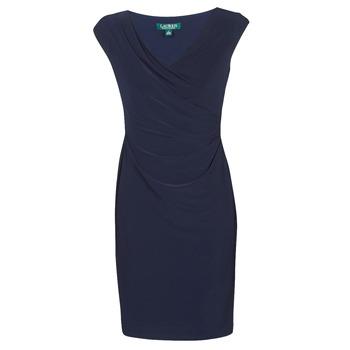 Oblečenie Ženy Krátke šaty Lauren Ralph Lauren BRANDIE Námornícka modrá