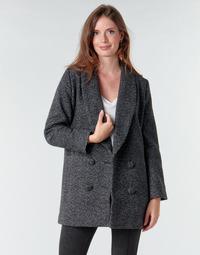Oblečenie Ženy Kabáty Le Temps des Cerises DILAN1 Čierna