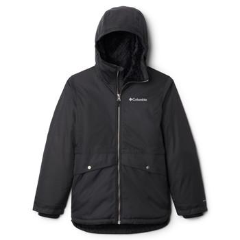 Oblečenie Dievčatá Parky Columbia PORTEAU COVE MID JACKET Čierna