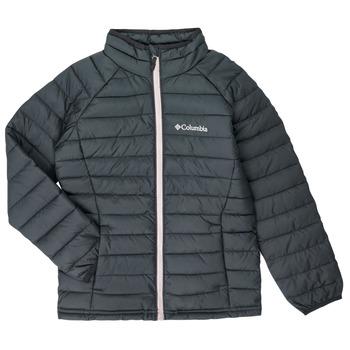 Oblečenie Dievčatá Vyteplené bundy Columbia POWDER LITE JACKET Čierna