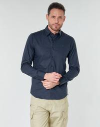 Oblečenie Muži Košele s dlhým rukávom G-Star Raw DRESSED SUPER SLIM SHIRT LS Tmavomodrá / Modrá