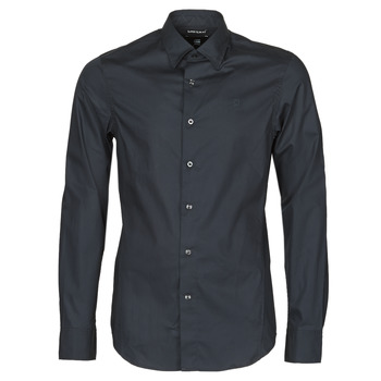 Oblečenie Muži Košele s dlhým rukávom G-Star Raw DRESSED SUPER SLIM SHIRT LS Čierna