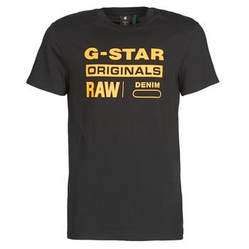 Oblečenie Muži Tričká s krátkym rukávom G-Star Raw COMPACT JERSEY O Čierna