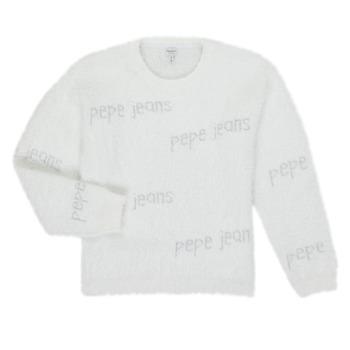 Oblečenie Dievčatá Svetre Pepe jeans AUDREY Biela