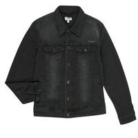 Oblečenie Chlapci Džínsové bundy Pepe jeans LEGENDARY Čierna