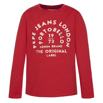 Oblečenie Chlapci Tričká s dlhým rukávom Pepe jeans ANTONI Červená