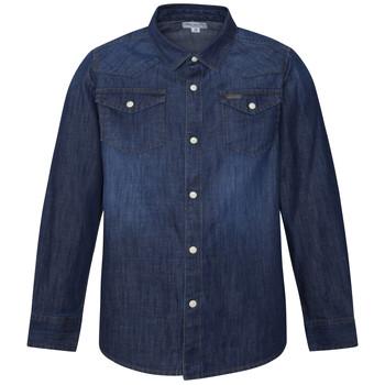 Oblečenie Chlapci Košele s dlhým rukávom Pepe jeans JHON Modrá