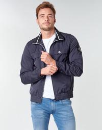 Oblečenie Muži Bundy  Calvin Klein Jeans ZIP UP HARRINGTON Námornícka modrá