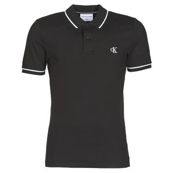 Oblečenie Muži Polokošele s krátkym rukávom Calvin Klein Jeans TIPPING SLIM POLO Čierna