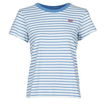 Oblečenie Ženy Tričká s krátkym rukávom Levi's PERFECT TEE Modrá