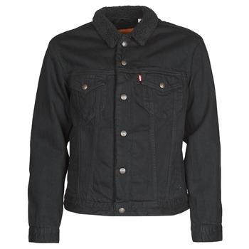 Oblečenie Muži Džínsové bundy Levi's TYPE 3 SHERPA TRUCKER Čierna