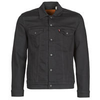 Oblečenie Muži Džínsové bundy Levi's THE TRUCKER JACKET Čierna